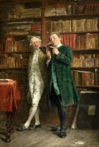 """Carl Seiler """"Two Men in a Library"""""""