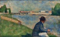 Georges Seurat (French, 1859–1891), Study for Bathers at Asnières (1883–1884)