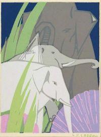 Untitled (Elephants), Leon V. Carroll, 1930s