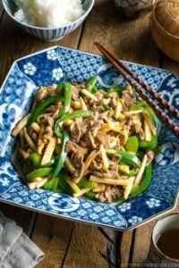 チンジャオロース: Japanese Beef, Bamboo & Pepper Stir Fry