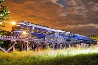 Potomac Eagle train, from Romney, WV, on a special night shoot provided by the railroad owner