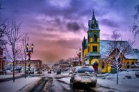 Petoskey Winter Scene by Buck Cash