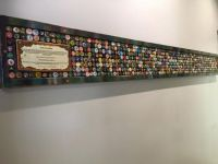 Wall of bottle caps