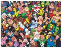 Justice League International omnibus cover by Kevin Maguire