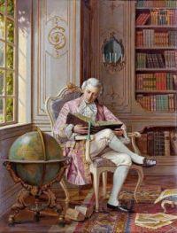 Alois Heinrich Priechenfried (Austrian, 1867–1953), The Reading Habit
