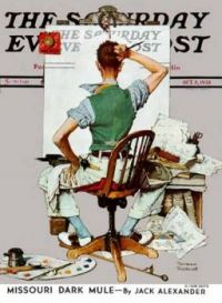 Norman Rockwell 'Blank Canvas'  1938