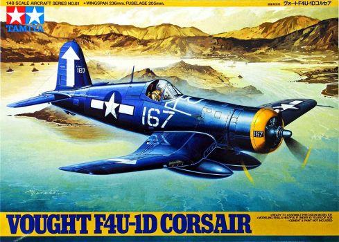 Tamiya Aircraft Series Vought F4U-1D Corsair 1/48 N°61
