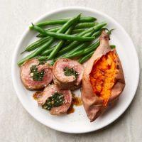 Sesame-Spinach Stuffed Flank Steak