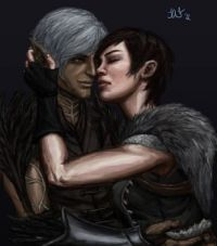 Fenris and Hawke - Dragon age 2