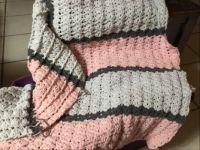 Front post shell crochet in progress