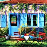Lovely garden - by Barbara Rosbe Felisky