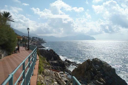 promontorio di Portofino dalla passeggiata di Nervi, Genova