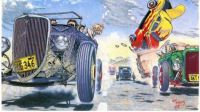 Hot Rod Race by Robt. Williams 1976 2