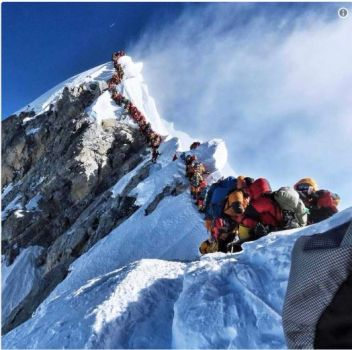 Queues on Everest