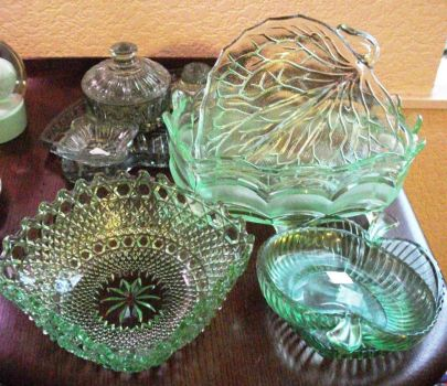 Vintage Pale Green Glass