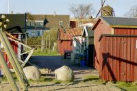 fishing huts in Viken,Sweden