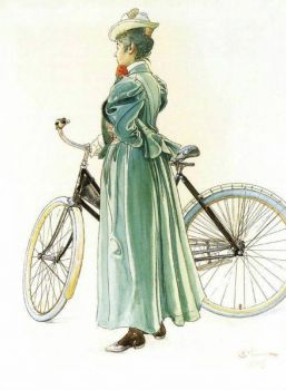 "Carl Larsson, ""Bicycle"""