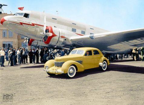 1937 Cord 812 Beverly Sedan and Douglas DC-3 DST