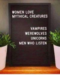 Women love ....   :-)