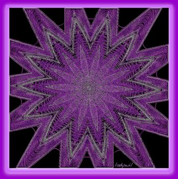 embossed purple star