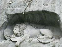 LION MONUMENT (1820 - 1821) LUCERNE SWITZERLAND