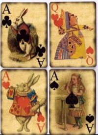 Vintage playing cards - Alice In Wonderland
