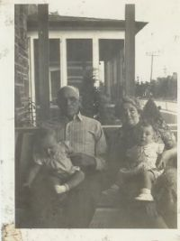 My grandparents with me (the fat one) and my cousin (15 days older than me)