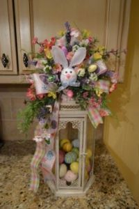 Lantern Decorated for Easter