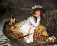 Young Lady In A Boat  by James Jacques Joseph Tissot