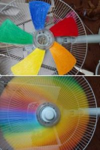 Rainbow DIY Fan