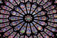 Notre Dame Rosette Stained Glass
