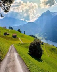 Village Road, Lungern Switzerland