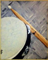 Tambourine and Drumstick