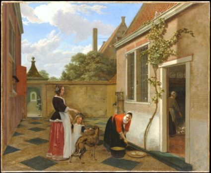 early 1660s courtyard
