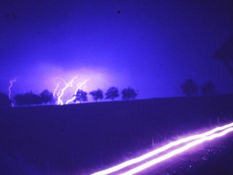 Blitze über Asbach