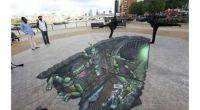 3D Street Art TMNT
