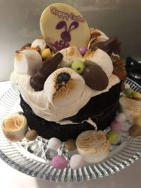 My S'Mores Easter Cake