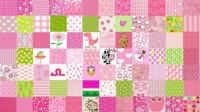 Pink With A Few Lime Green Squares