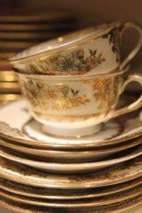 Golden Tea Cups