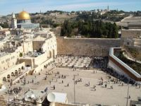 Jerusalem, Israel. Temple Mount and the Western Wall, the only wall that remained of the 2nd Jewish Temple.