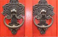 Old door handles at the hotel in Siem Reid