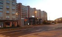 sídliště ve středu města v Chomutově