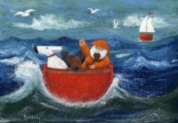 Peter Adderley Art - All Aboard!  Hang on Tight!!