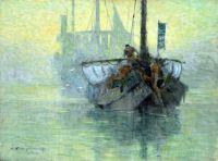 Hachiro Nakagawa (1877-1922) - Morning on the River, 1904