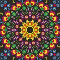 kaleidoscope 417 folk pattern small