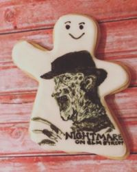 Freddy Krueger sugar cookie