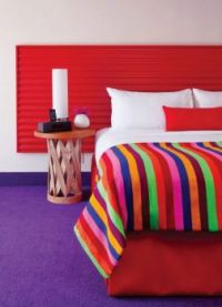 colorful hotel room