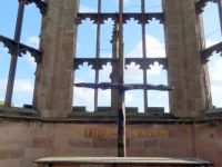 Charred Cross in the Old Coventry Cathedral  (4)