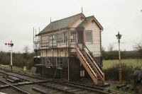 Swindon and Cricklade Railway 12-03-2017 hayes knoll signal box built 1887 moved here 1995 01