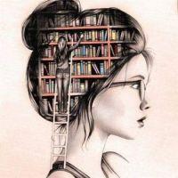 in her head